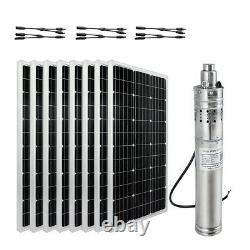 1000W Solar Panel Well Water Pump Kit Farm Irrigation Large Watering System