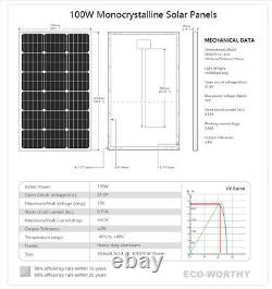 100W Solar Panel & 12V Deep Well Water Pump Kits for Pond /Home Ranch Irrigation