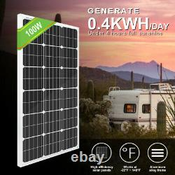 100W Solar Panel &12V Submersible Deep Water Well Pump Kits Farm/Home Irrigation