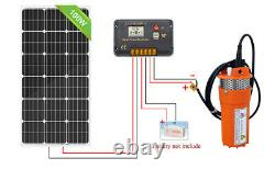 12V DC Water Pump System Kit With 100W Solar Panel for Aquarium/Irrigation