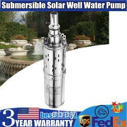 12V Solar Powered Water Pump Farm&Ranch Submersible Bore Hole Deep Well Pump US