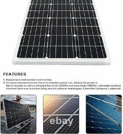 12V Solar Water Pump Submersible w 100W Solar Panel for Emergency Irrigation