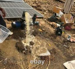 1500With96v Solar Water Swimming Pool Well Brushless High Flow Pump + Controller