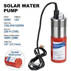 200W Mono Solar Panel + 12V Submersible Deep Well Pump + 20AH LiFePO4 Battery