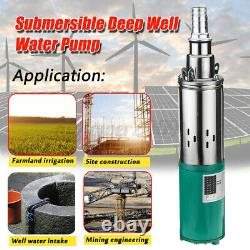 220W DC 12V 45m Electric Solar Deep Well Water Pump Submersible Bore Hole Pond