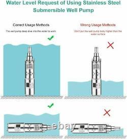 24V 1500L/H Solar Power Deep Well Water Pump Farm Ranch Submersible Bore Hole