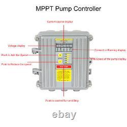 24V/36V Solar Submersible Water Pump Deep Well Hole Bore Pump + Solar Panel Kit