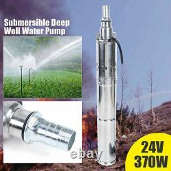 24V 370W Solar Water Pump Deep Well Solar Submersible Pump head 65m 2m³/h USA
