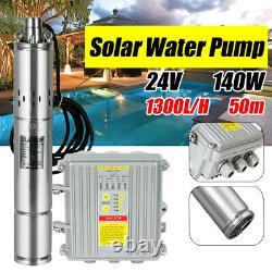 24V 3 Solar Deep Water Well Pump S/Steel Submersible+Pump Controller