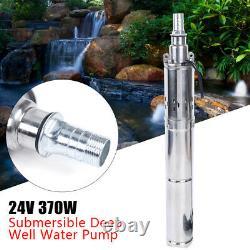 24V 48V Solar Power Water Pump Farm Ranch DC Submersible Bore Hole Deep Well USA