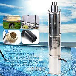 24V Solar Stainless Steel Deep Well Water Pump Deep Well Screw Submersible Pump
