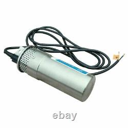 24V Stainless Shell Submersible Deep Well Water Pump+20A Controller+Solar Panel