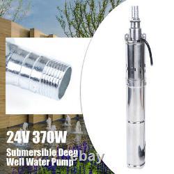 24V Submersible Pump 370W Solar Deep Well Water Pump Max Head 65m / 213ft SALE