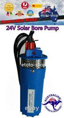 24v DC Solar Pump 4 Submersible Bore Hole Water Pump 70m Head Deep Well Battery