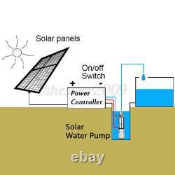 280W 24V 3m³/h 60m Solar Water Pump Submersible Bore Hole Deep Well Pump