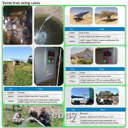 2.2KW PV Solar Inverter Photovoltaic Water Pump Generator VFD, 1phase 220V output