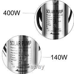 3'' Bore Deep Well DC Solar Water Pump Submersible +MPPT Controller +Solar Panel