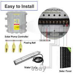 3 DC Deep Well Solar Water Pump 24/36V Bore Hole Submersible MPPT Controller