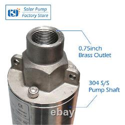 3 DC Screw Solar Power Water Deep Well Pump 36V 210W Submersible Borehole MPPT