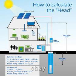 3 DC Screw Solar Water Pump 48V 500W Submersible Well Garden Irrigation Kits