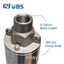 3 DC Screw Solar Water Pump 48V 750W Submersible Well Garden Irrigation Kit 1HP