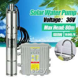 3 DC Solar Water Pump 36V 400W Submersible Bore Deep Well Pump &MPPT Controller
