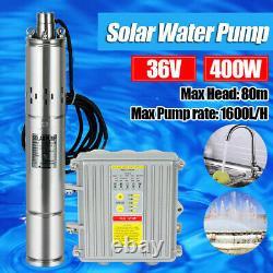 3 DC Solar Water Pump Deep Well Submersible Pump MPPT Controller Kit 36V 400W