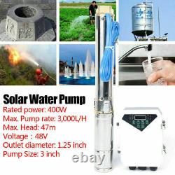 3'' Farm Ranch Solar Submersible Water Pump Bore Hole Deep Well Pump New USA