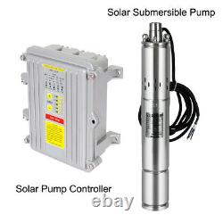 3 Inch Solar Deep Well Submersible Water Pump With Controller, DC 24/36V, 140/400W