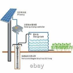 3 MPPT Controller Solar Water Pump 400W 500W 600W Submersible BoreHole DeepWell
