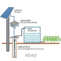 3'' Solar Bore Water Pump Deep Well Submersible Complete Kits & MPPT+Solar Panel