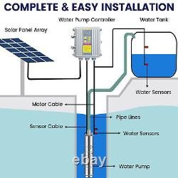 3 Solar Deep Water Well Pump S/Steel 24V/36V Submersible Screw Controller Kits