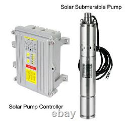3 Solar Deep Water Well Pump Stainless Submersible Screw MPPT Controller Kit US