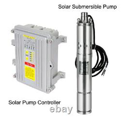 3'' Solar Submersible DC Water Pump Irrigation+2100W Solar Panel +100AHBattery