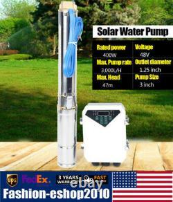 3 Zoll 400W DC Solar Water Pump Deep Well Submersible Garde Pump+MPPT Controller