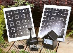 409 GPH Solar Power Outdoor Fountains Pond Water Pump Panel Kit LEDs Garden Yard