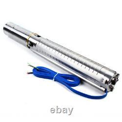 4DC Deep Well Solar Water Bore Pump Kit 110V 2HP Irrigation Farm Submersible US