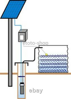 4 2200W 156V SUBMERSIBLE SOLAR WATER BORE WATER PUMP SYSTEM Auto Control
