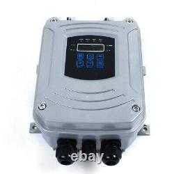 4 2HP DC Solar Deep Bore Well Submersible Water Pump + MPPT Controller 1500W US