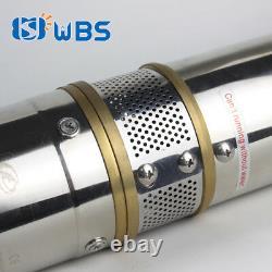 4 DC Submersible Well Solar Pump Plastic Impeller MPPT Controller Kit 110V 2HP