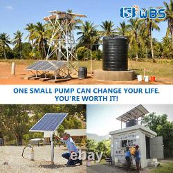 4 Deep Well Stainless Steel Solar Water Pump 110V 2HP Submersible + Controller