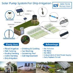 4 Hybrid 3HP Solar Bore Well Pump Stainless Steel + AC/DC Controller 2200W