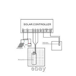 4 Solar Deep Well Bore Water Pump Farm Irrigation MPPT Submersible Pump 1500W