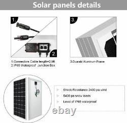 4 Solar Water Well Pump Kits&16.5ft Extention Cables &Bracket& 200W Solar Panel