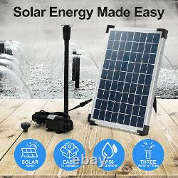 610 L/H Solar Panel Fountain Submersible Water Pump Kit Filter Pool Garden Pond