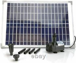 AEO Solar Pump Kit 410 GpH DC Water Pump with 20W Solar Panel Included