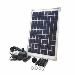 AEO Solar Water Pump KIT DC Brushless Submersible 196GpH Water Pump with 18V