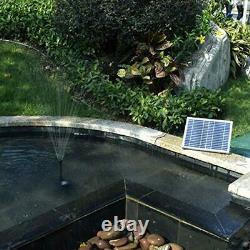 COCOMIA Solar Fountain Pump, 10 W Garden Solar Water Pump Kit, Solar Pond Pump