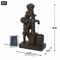 Cascading Fountains Teamwork Water Pump Solar Fountain 10016357