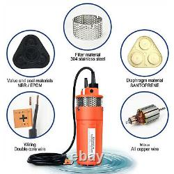 Complete 120W Solar Deep Well Water Pump Kit with 8Ah LiFePO4 Lithium Battery